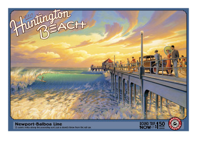 Huntington Beach Giclee Print by Kerne Erickson
