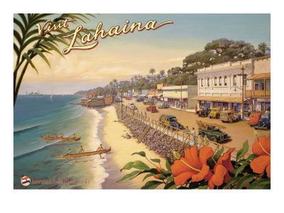 Visit Lahaina Giclee Print