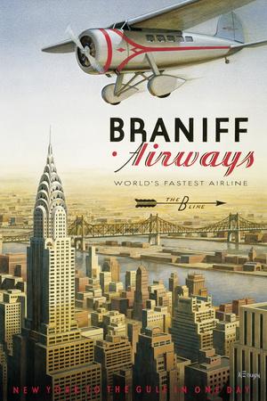 Braniff Airways, Manhattan, New York Giclée-Druck von Kerne Erickson