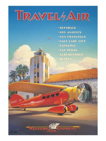 Western Air Express Giclee Print by Kerne Erickson