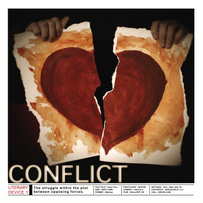 Literary Devices: Conflict Posters by Jeanne Stevenson