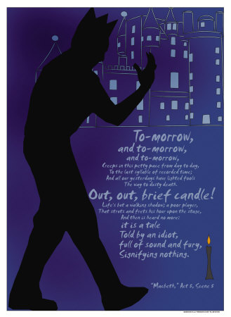 Macbeth: Out, Out, Brief Candle! Poster von Christopher Rice