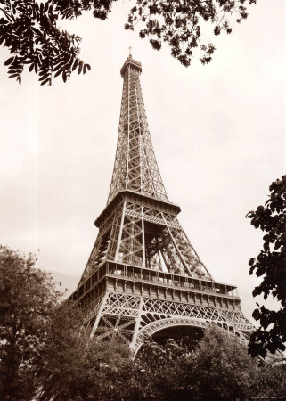 Printable Picture Eiffel Tower on Eiffel Tower In Spring Posters By Jonathan Larsen   Allposters Co Uk