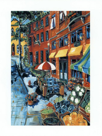 Fresh Fruits and Vegetables Prints by Josée Miller