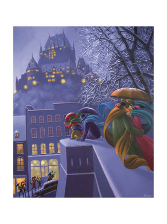 First Snow Print by Claude Theberge