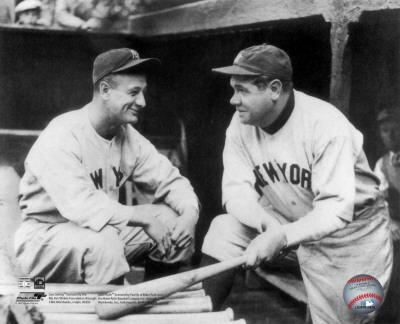 MLB Lou Gehrig & Babe Ruth Photo