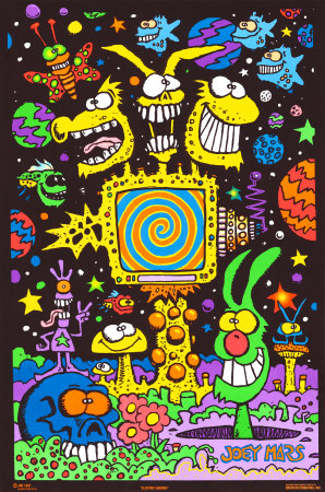 Electric Garden Blacklight Poster