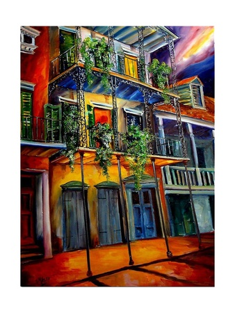 Mysterious French Quarter reproduction procédé giclée
