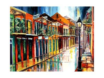 French Quarter Rain Prints by Diane Millsap