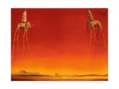 The Elephants, c.1948 Print by Salvador Dalí
