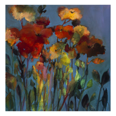 Blue Flower Giclee Print by Michelle Abrams