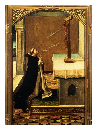 Saint Peter Martyr at Prayer Giclée-tryk af Pedro Berruguete