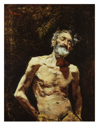 Nude of Old Man in the Sun Giclee Print by Mariano Fortuny y Marsal