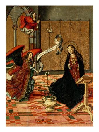 Annunciation Giclée-tryk af Pedro Berruguete