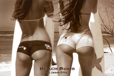 Beach Bums - Girls On Beach Posters