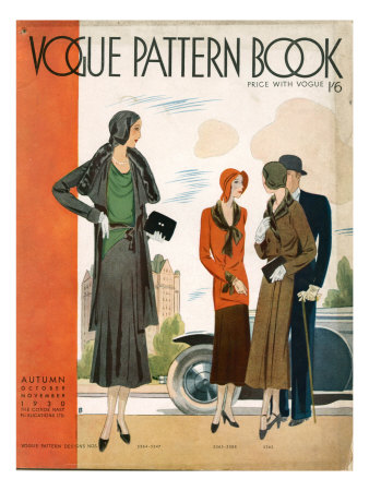 Vogue Pattern Book Cover, UK, 1930 Premium Poster