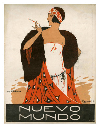 Nuevo Mundo, Magazine Cover, Spain, 1923 Kunstdruck