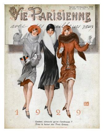 La Vie Parisienne, Magazine Cover, France, 1928 Giclée-tryk