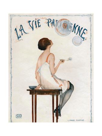 La Vie Parisienne, Magazine Cover, France, 1927 Giclée-tryk