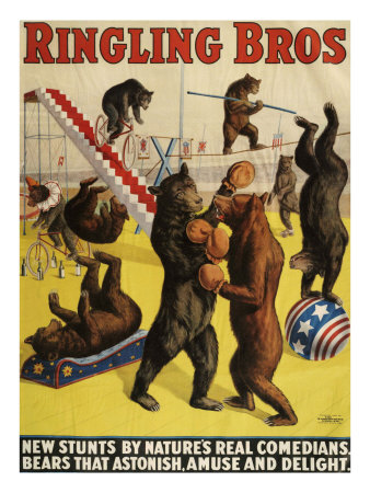 Ringling Bros, Poster, 1900 Giclee Print