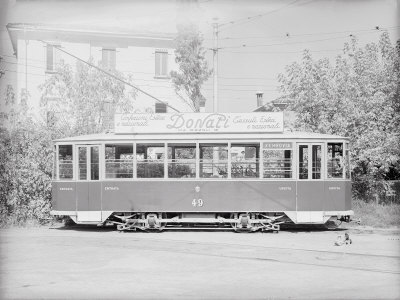 Model of a Tram Photographic Print by A. Villani