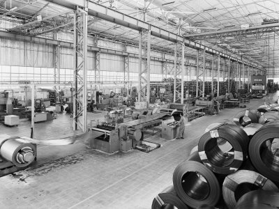 Factory of the Becchi Company, Producer of Kitchen Units in Forli Photographic Print by A. Villani