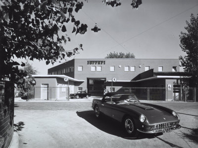 Entrance and Facade of the Ferrari Factory in Maranello Photographic Print by A. Villani