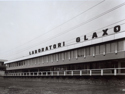 External View and Facade of the Glaxo Pharmaceutical Factory Photographic Print by A. Villani