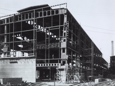 Ilva Factory of Bagnoli, the Thomas Steel Plant in Construction Photographic Print by A. Villani
