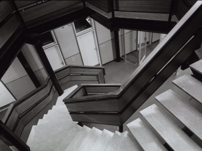 Stairway of the State Run Professional Institute for the Industrialist and Artisan Alfredo Ferrari Photographic Print by A. Villani
