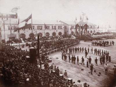 Parade for Maiden Voyage of Austrian Lloyd Arsenal Ship, During the Hapsburg Domination, Trieste Photographic Print