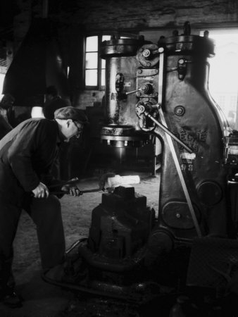 Workers of the Innocenti Automobile Factory Photographic Print by A. Villani