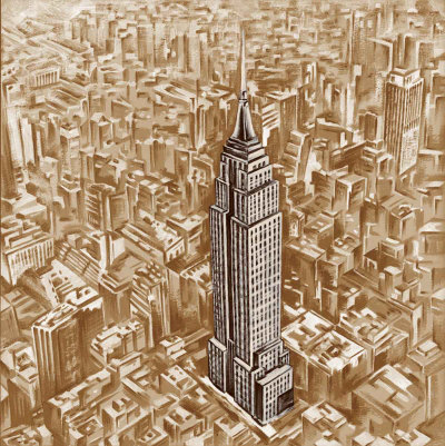 Empire State Building Posters by E. Moroder
