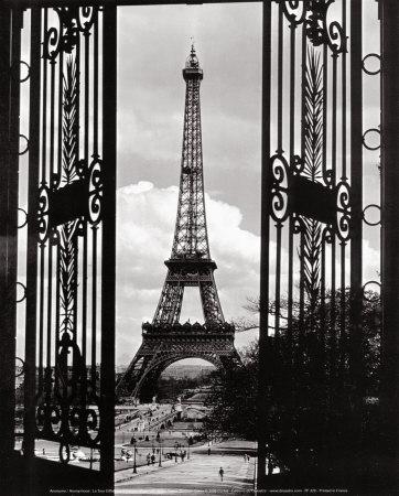 Eiffel Tower through the Gates Prints