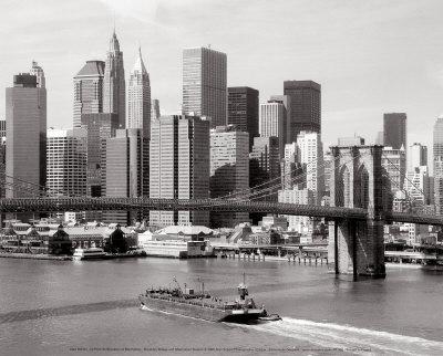 Brooklyn Bridge and Manhattan Skyline Prints by Alan Schein