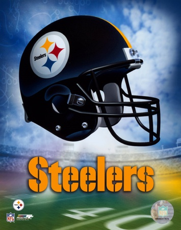 Pittsburgh Steelers Helmet Logo ©Photofile Framed Art Print