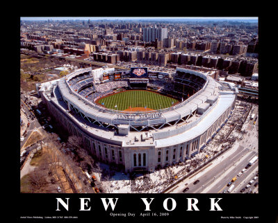 New Yankee Stadium, First Opening Day, April 16, 2009 Print by Mike Smith