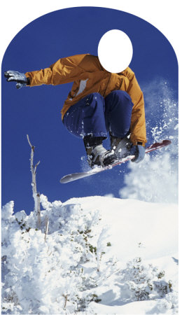 Snowboarder Lifesize Stand-In Cardboard Cutouts