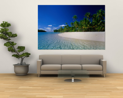 Tropical Beach, Cook Islands Wall Mural