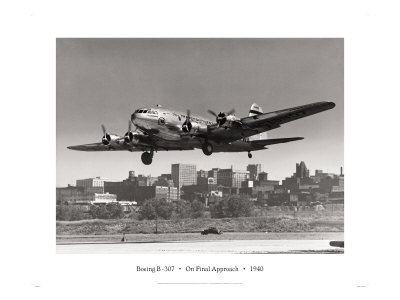 Boeing B-307 on Final Approach, 1940 Giclee Print