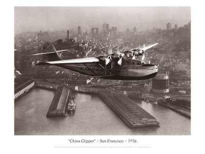 China Clipper, San Francisco, California, 1936 Giclee Print by Clyde Sunderland
