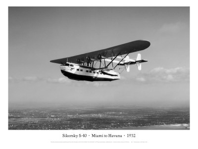 Sikorsky S-40, Miami to Havana, 1932 Giclee Print by Clyde Sunderland