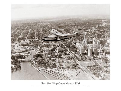 Brazilian Clipper over Miami, 1934 Giclee Print