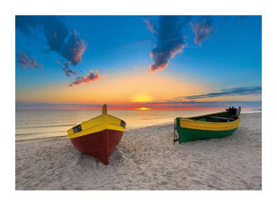 Two Boats Prints by Maya Sokolovska
