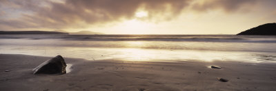 Sunset over the Sea, Whitesand Bay, Pembrokeshire, Wales Photographic Print by  Panoramic Images