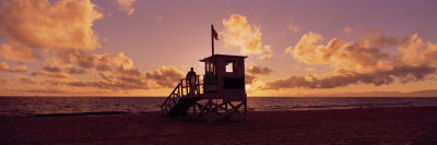 Lifeguard Hut on the Beach, 22nd St. Lifeguard Station, Redondo Beach, California, USA Photographic Print by  Panoramic Images