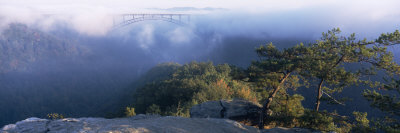 Clouds over a Bridge, New River Gorge Bridge, Fayetteville, West Virginia, USA Photographic Print by  Panoramic Images