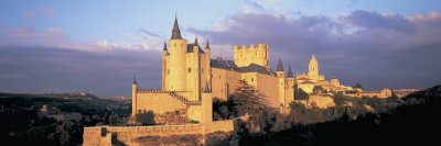 Clouds over a Castle, Alcazar Castle, Old Castile, Segovia, Madrid Province, Spain Photographic Print by  Panoramic Images