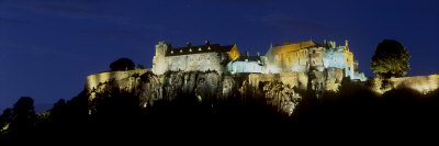 Stirling Castle at Night, Atop Castle Hill, from the Southwest, Stirling, Scotland, United Kingdom Photographic Print by Patrick Dieudonne