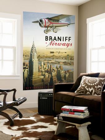 Braniff Airways, Manhattan, New York Wall Mural